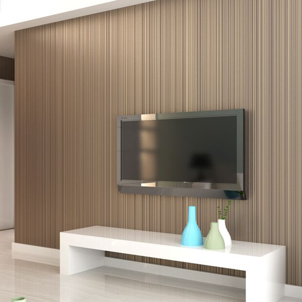10m*53cm Simple non woven wallpaper modern plain white striped living room bedroom television background wall paper