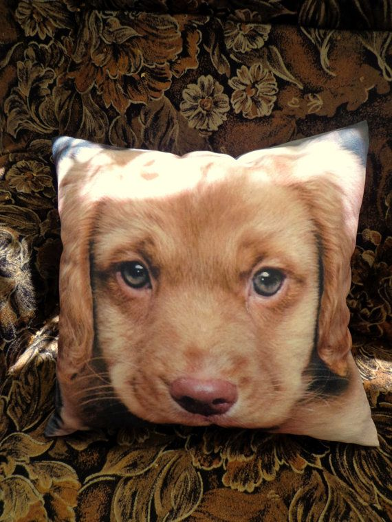 Cushion for sofa with a picture of  dog от CushionStudio на Etsy