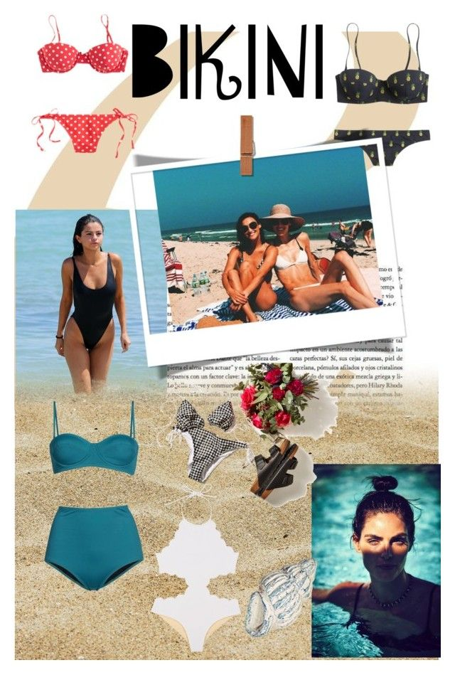 Swimwear for different bodies by style-lovely on Polyvore featuring moda, Retrò and Vichy