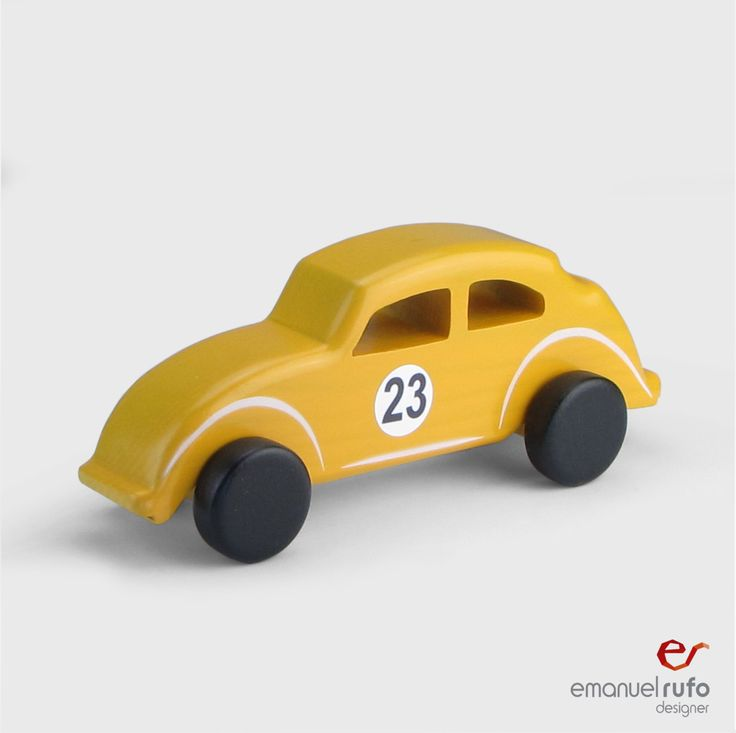 """Wooden Toy - Wooden Car - """"Classic Car"""" - Volkswagen Beetle by emanuelrufoToys on Etsy"""
