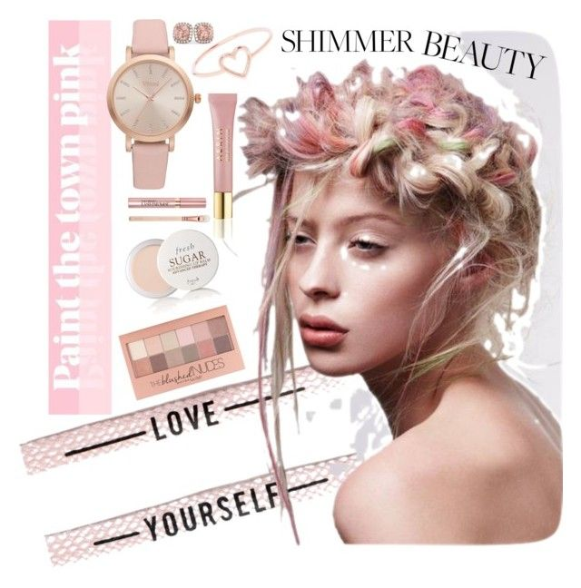 """Shimmer beauty"" by daniiela-diiana on Polyvore featuring Schönheit, Vivani, Love Is, Allurez, Maybelline, AERIN und Fresh"
