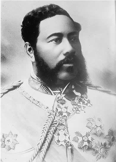 """King Kalakaua, the restorer of Hawaiian Heritage & Culture: King Kalakaua was Hawaii's last reigning king. He was elected to power in 1874, and ruled Hawaii for 16 years until his death in 1891. Known as """"The Merrie Monarch"""" Kalakaua revived elements of Hawaiian culture which had nearly been forgotten. These included the ancient Hawaiian martial art of Lua and the dance of Hula."""