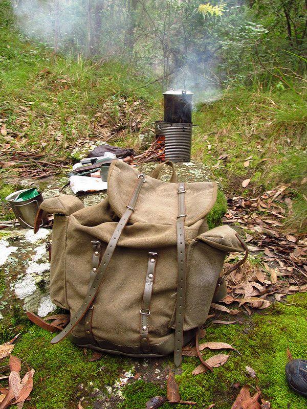 German mountain pack and hobo stove