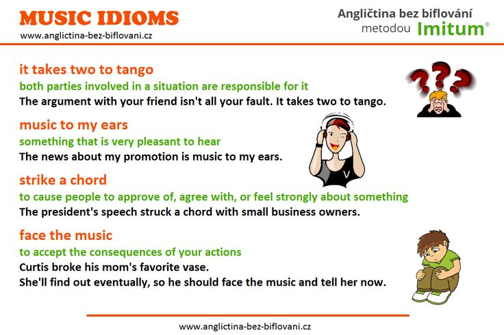 Podívejte se na pár anglických idiomů souvisejících s hudbou...