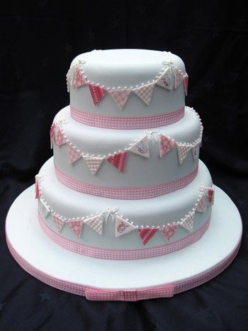 bunting wedding cake - Google Search