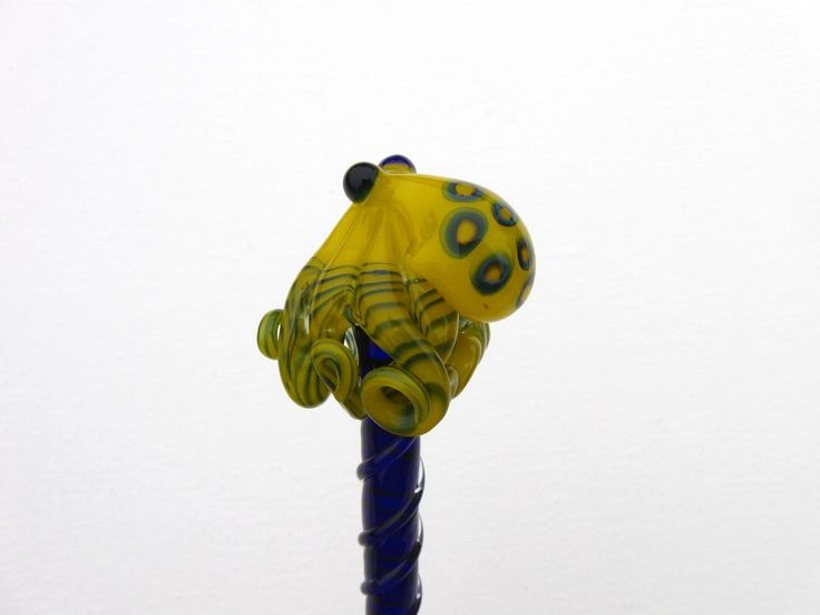 Blue Ringed Octopus Glass HairStick by EmergentGlassworks on Etsy https://www.etsy.com/listing/97613783/blue-ringed-octopus-glass-hairstick