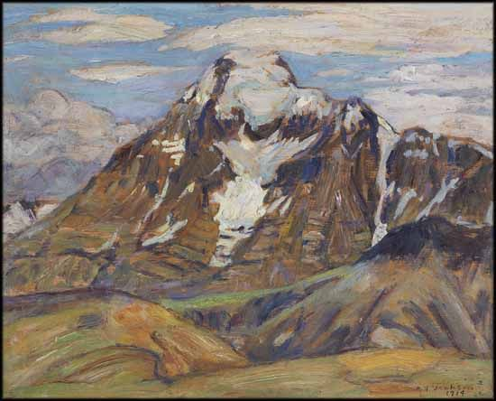 A.Y. Jackson - Sunny Day Mt. Robson 8.5 x 10.5 Oil on board