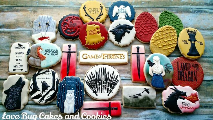 Love Bug Cakes And Cookies Game Of Thrones Cookies