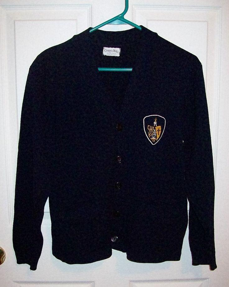 Vintage Navy Blue Catholic School Girl Uniform Sweater by Chapel Hall  Medium Only 15 USD by SusOriginals on Etsy