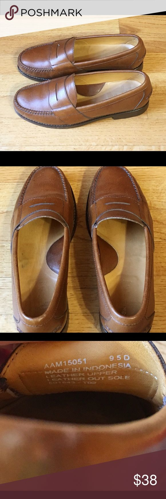 Polo Men's brown leather shoes, size 9.5D Polo Men's Brown Leather Shoe Loafers, size 9.5D, leather soles.  Excellent condition Polo by Ralph Lauren Shoes Loafers & Slip-Ons