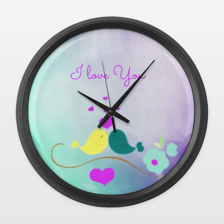 Shop for unique nursery art like the Lovely Birds Wall Clock by haroulita on BoomBoomPrints today!  Customize colors, style and design to make the artwork in your baby's room their own!
