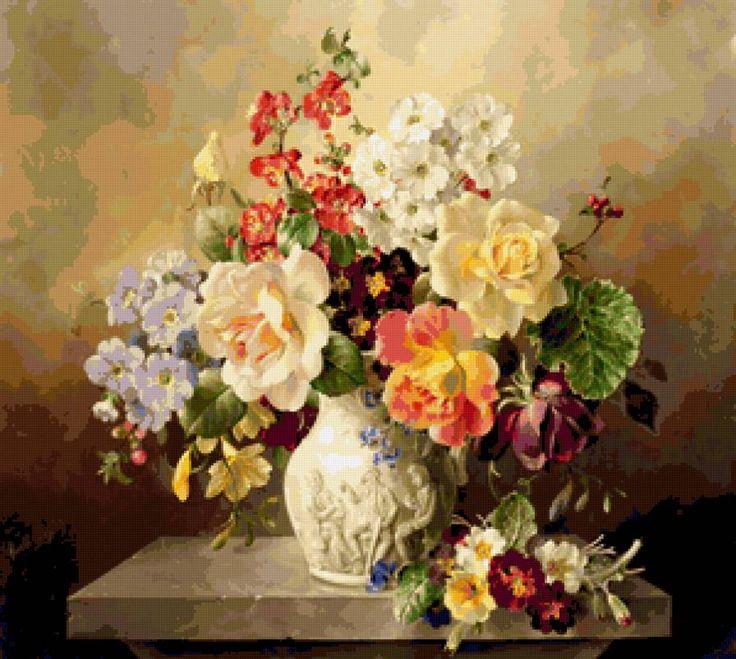Викторианские цветы - Схемы вышивки - Nensi57 - Авторы - Портал «Вышивка крестом»
