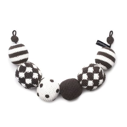 Littlephant Crochet Black Pram Necklaces now in the sale at Northlight Homestore