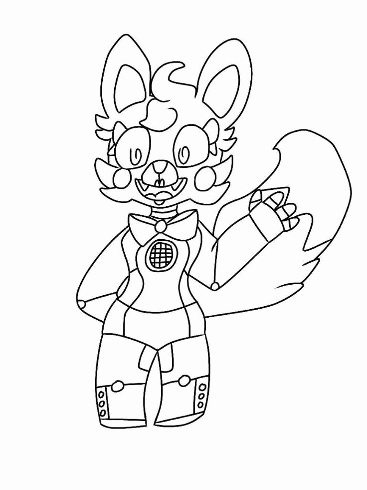 Funtime Freddy Coloring Page Elegant 7 Foxy Lineart ...