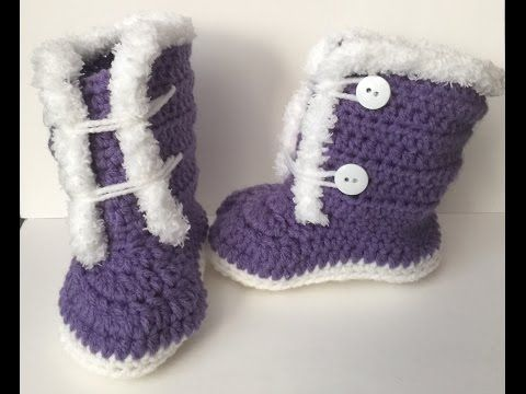 Here is a quick unconventional (not working in the round) way to make sweet baby booties for newborn using textured yarn. Thanks for watching :)