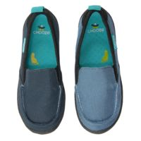 Scout in Halt  CHOOZE Shoes: Our shoes are different. Always. The left shoe is always different from the right. The collection features fun and colorful vegan shoes for toddlers, kids, youth, and women. Sizes range from 4 Toddler to 11 Women's.