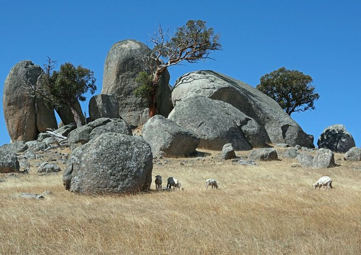 The boulders on #Tooborac #Lancefield road Victoria - as spectaclar as the #Devil's Marbles in NT
