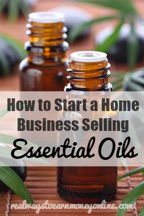 How to start a home business selling essential oils through Young Living.