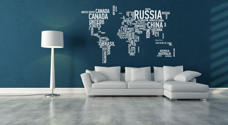 World Map XL Wall Decal