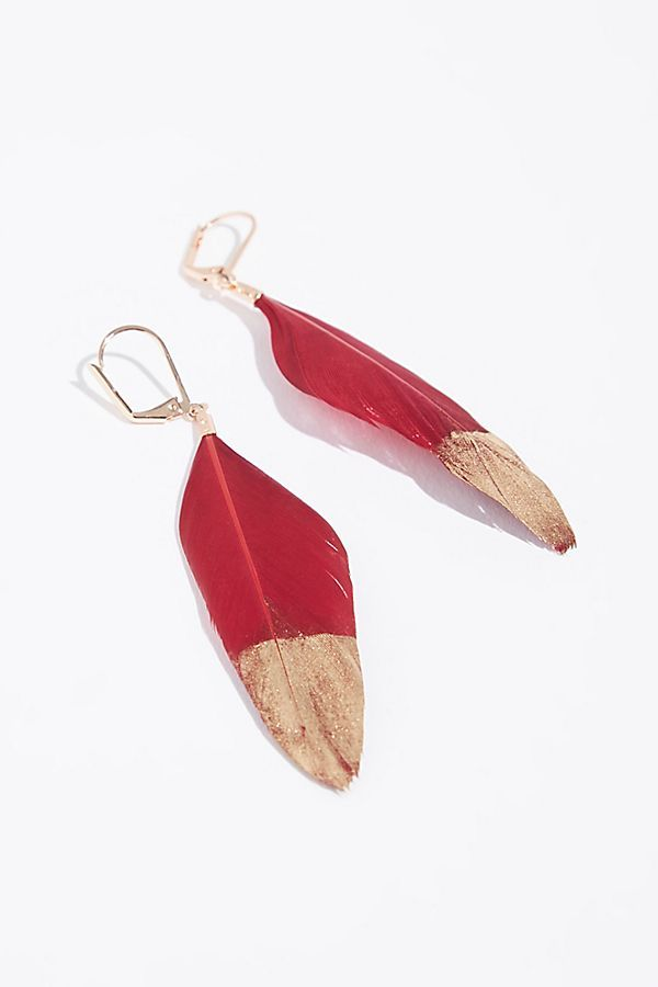 FREE PEOPLE: *2 Colors* Was $28, NOW $9.95! Metallic Dipped Feather Earrings  SAVE $18: http://shopstyle.it/l/zoIl #ad
