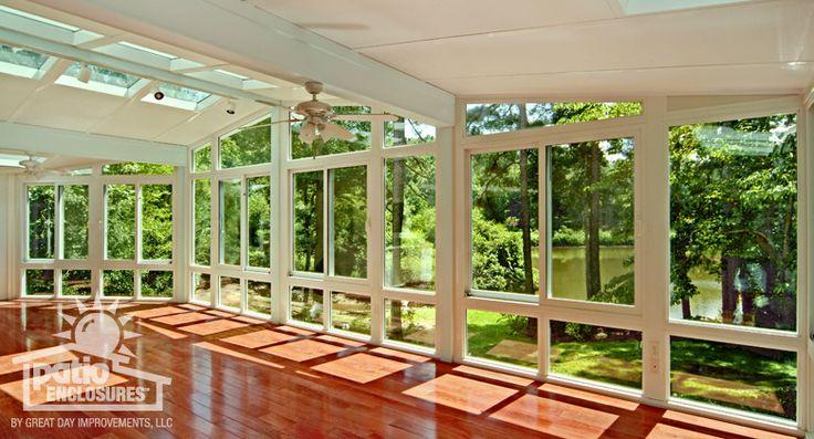 All Season Sunroom Featuring Full Length Windows And