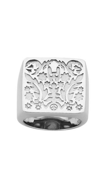 Square Filigree Ring - Silver