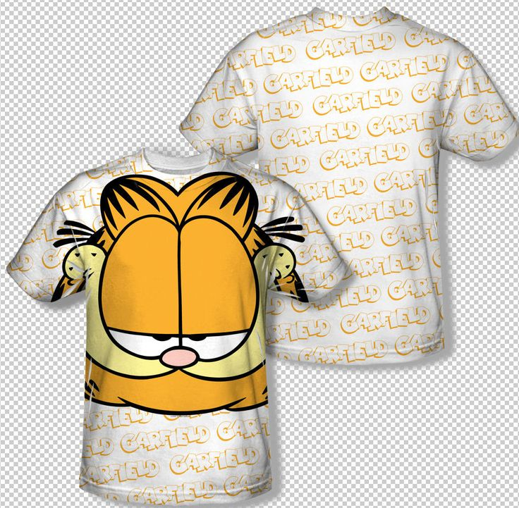 New Garfield Jim Davis Cartoon Face All Over Print Sublimation Youth T-shirt Top Youth Sizes: S, M, L, XL