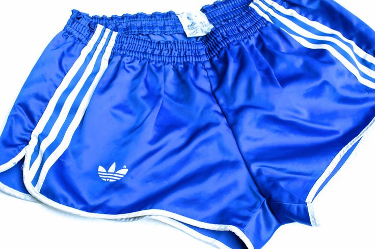 Vintage French Adidas Sky Blue Sprinter Shorts. D6 (Medium) Beautiful Nylon.