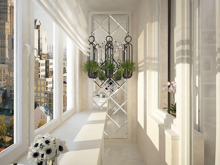 Дизайн стеклянного балкона фото