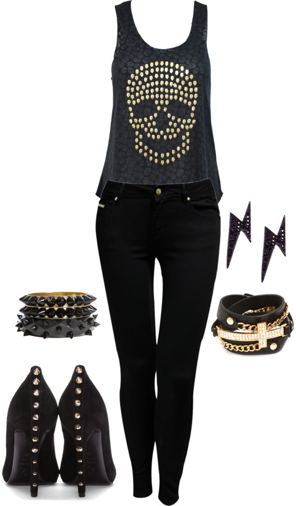 1000 Ideas About Rock Chic Outfits On Pinterest Martens