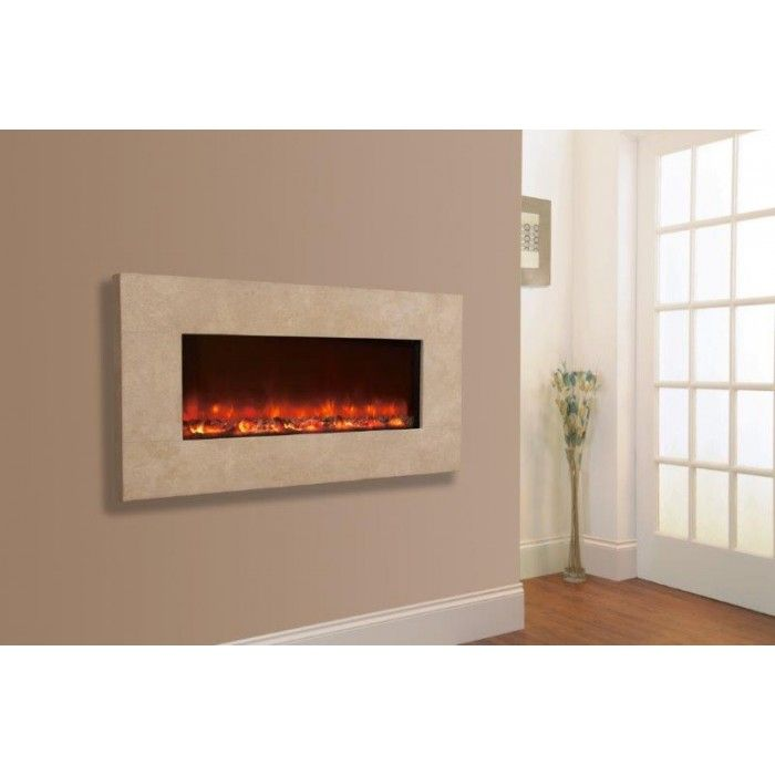 Electric Flame Fires Uk Part - 46: Celsi Electriflame Travertine Wall Mounted Electric Fire Uses Advanced  Technology To Create One Of The Most Realistic Flame Pictures Found In Any  Electric ...