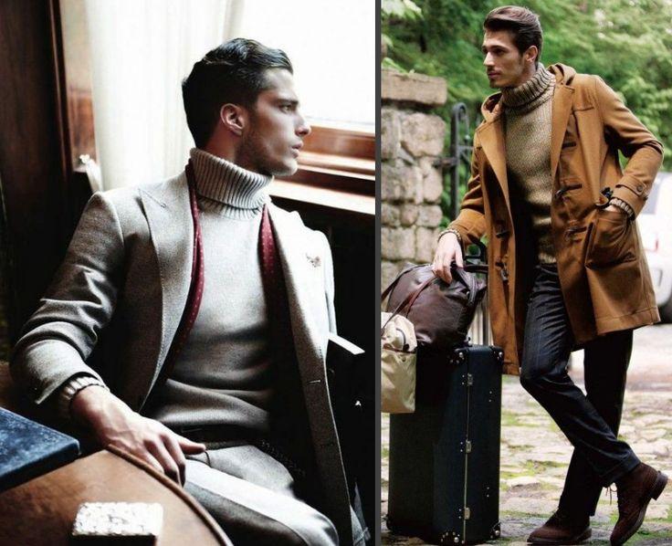 """Polotröjor har i många år varit """"nördens go-to-plagg"""", det är dock inte helt sant längre. Nu är den tillbaka, och det kan bli riktigt bra! #polo #turtleneck #suit #mensfashion #fashion #stil #style #mode #herrmode #sweater #winterfashion #mensfw14 #Obsid"""