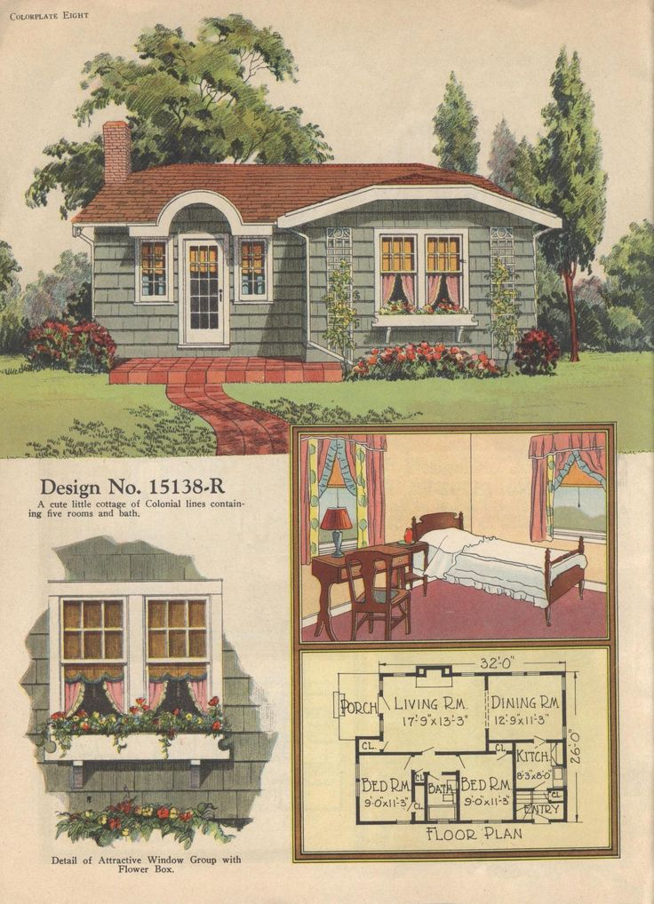 Colorkeed home plans radford 1920s vintage house plans for Vintage home designs