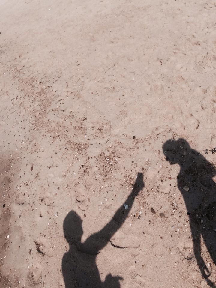 sombras na areia