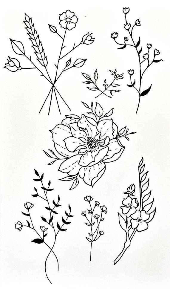 Wildflower Line Drawing : Best animal tattoos images on pinterest tattoo