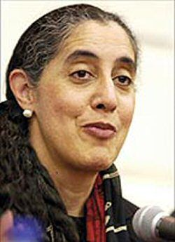 Lani Guinier is an American lawyer, scholar and civil rights activist. The first Jewish/African-American woman tenured professor at Harvard Law School.