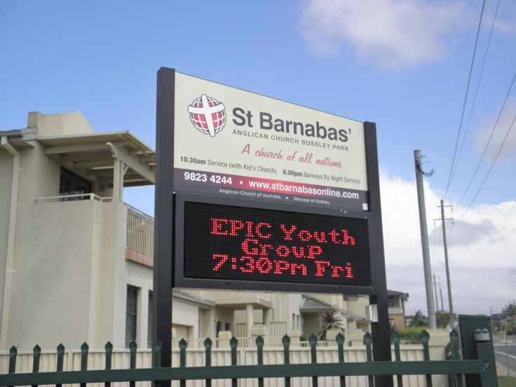 St Barnabas #led #sign #CSI