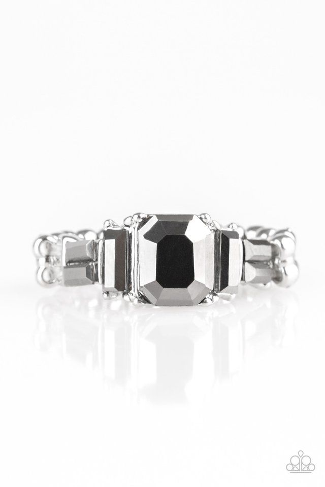 Picture Of Born To Rule Silver Gem Ring Paparazzi Accessories Paparazzi Jewelry
