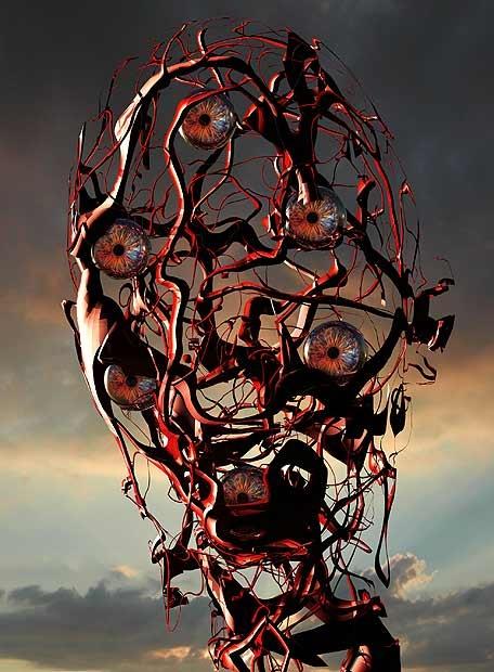 Apocalíptico-arte-posthumano en cristal.