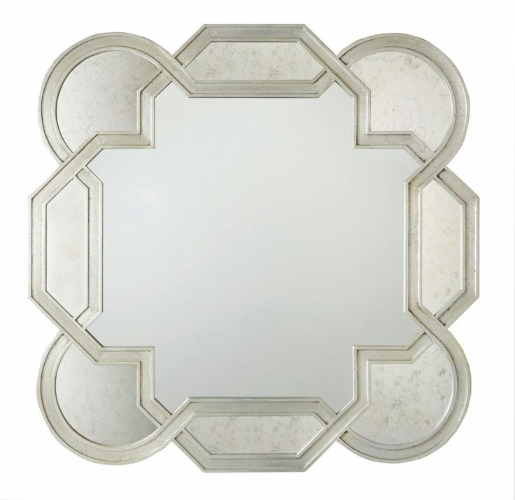 Gallery Website Salon Mirror with Decorative Shaped Frame and Insets of Antiqued Mirror Glass by Bernhardt at Sprintz Furniture