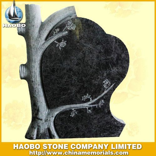 How to Design a Headstone   Tree Design Heart_Design Tombstone