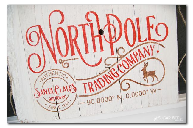 DIY North Pole Sign - Sugar Bee Crafts