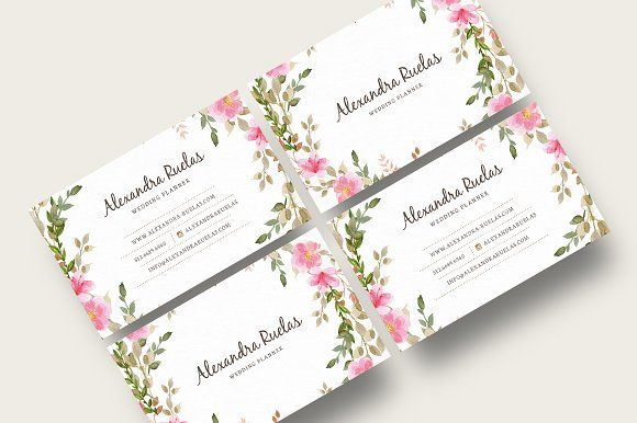 Floral Business Card Floral Business Cards Graphic Design Personal Branding Business Cards Creative