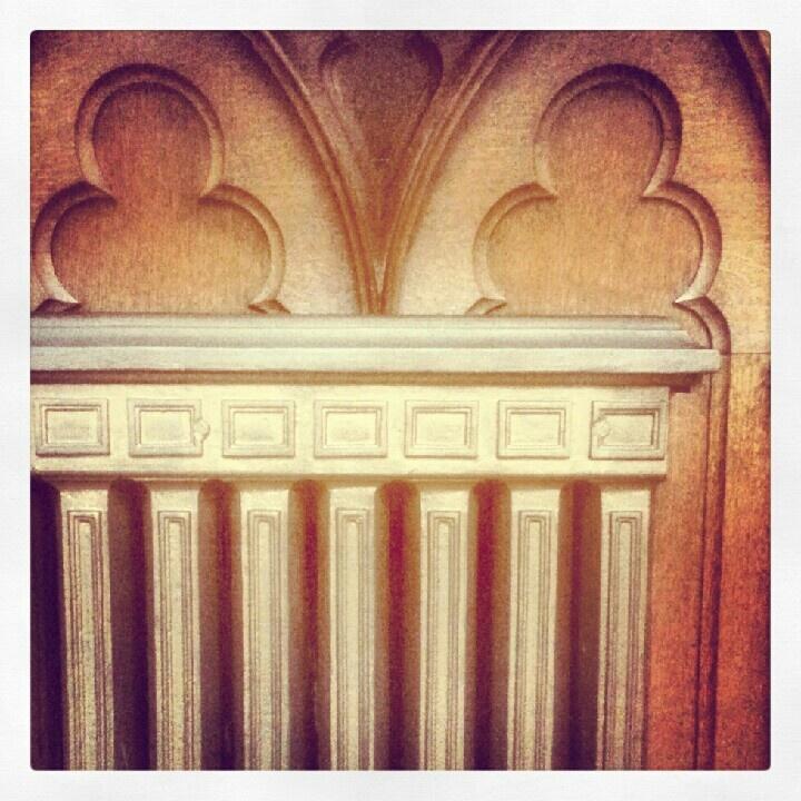 Radiator. Neo Gothic chapel.