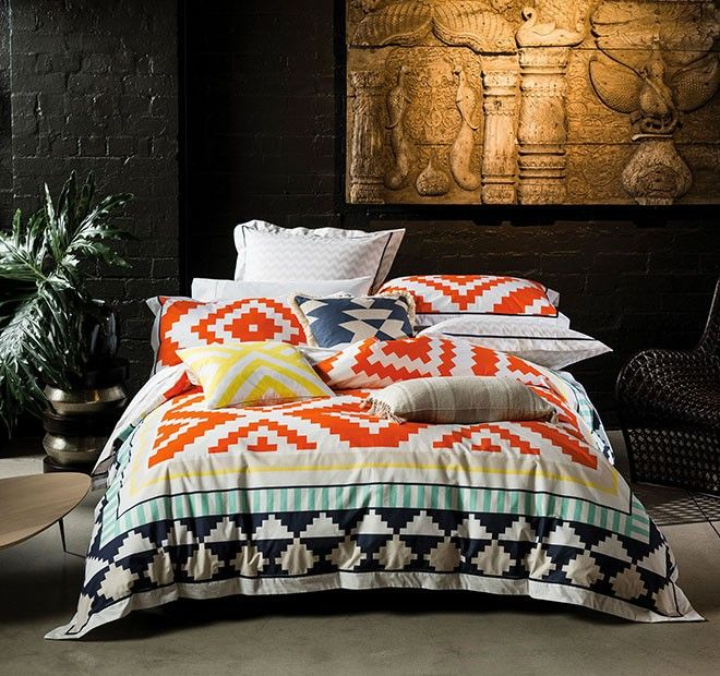 Coco Quilt Cover Set Range Chilli Manchester Warehouse