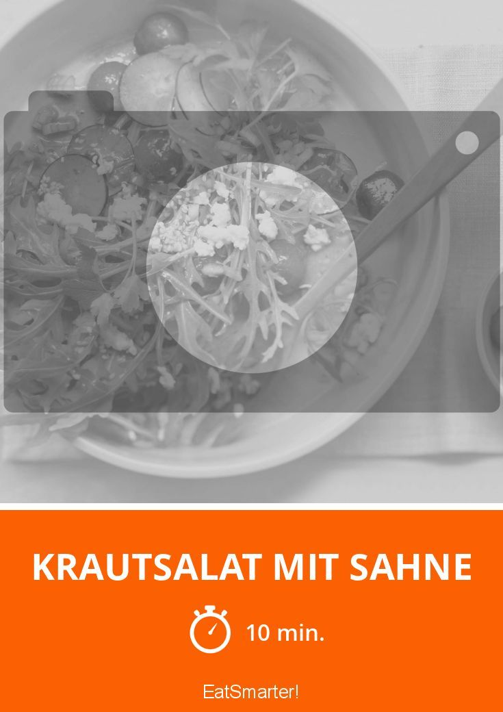 Krautsalat mit Sahne - smarter - Zeit: 10 Min. | eatsmarter.de