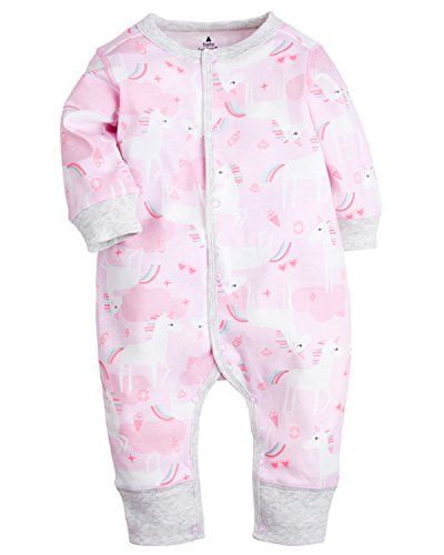 87147b55a951 Kidsform Baby Infant Boy Girl Cotton Bodysuit Sleepwear Long Sleeve ...