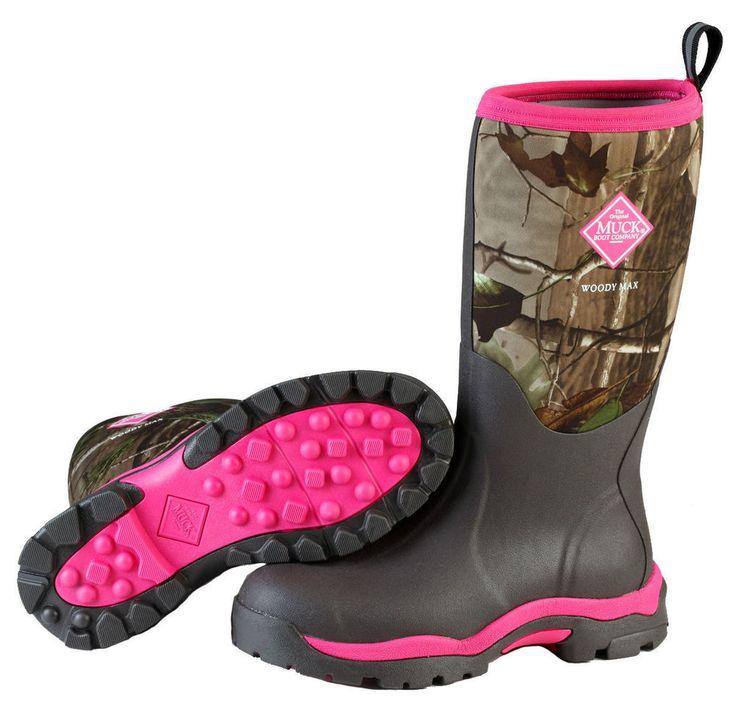 NEW Muck WWPK-RAPG Woody PK Pink Camo Women's Boots HUNT Size Sz 6,7,8,9,10,11 #MuckBoots #Hunting