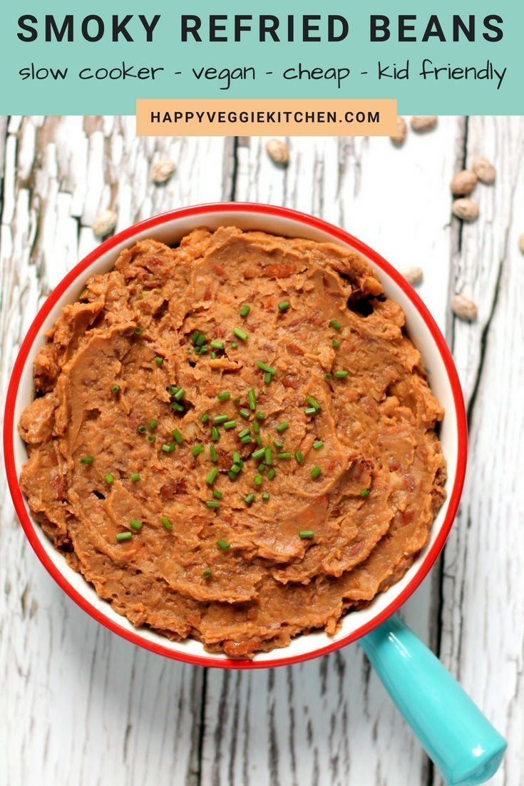 Smoky Vegan Refried Beans | Slow Cooker