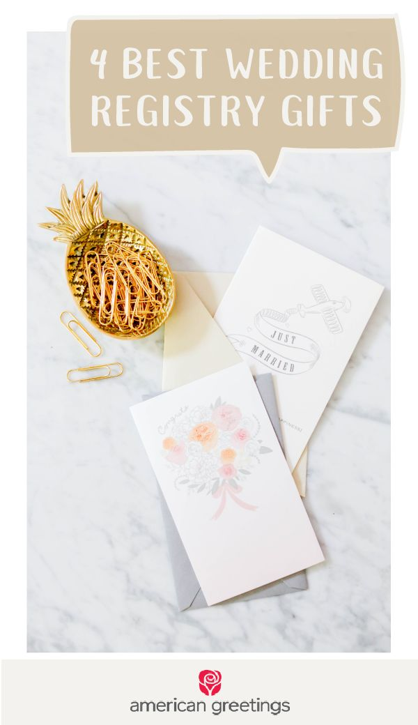Wedding season is in full swing! If you're short on inspiration for thoughtful, personal, and useful present ideas, make sure to check out these 4 Best Wedding Registry Gifts. Unique wedding gifts, personalized sentiments, and more can be found with this useful guide. And by pairing your gift with a greeting card from Target, you'll be ready for all the bridal showers and receptions you have this summer.